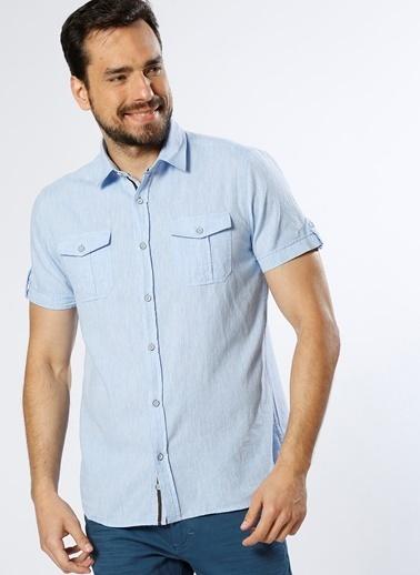 Limon Company Kısa Kollu Gömlek Mavi